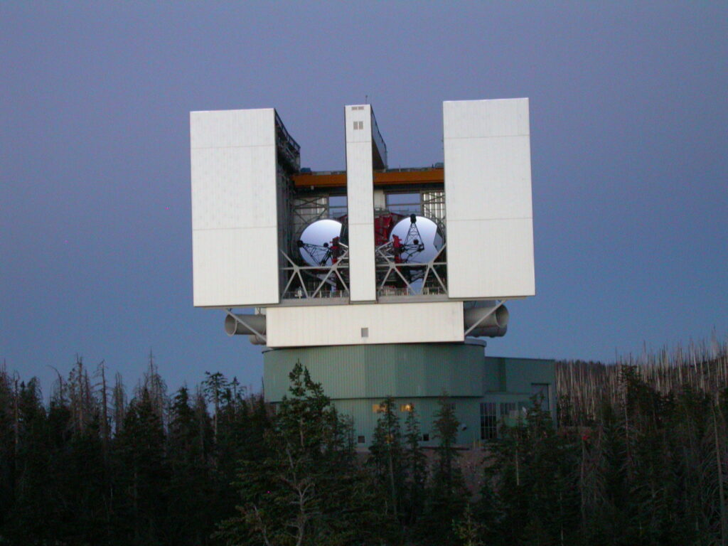 The L.U.C.I.F.E.R Telescope at the Mount Graham International Observatory.
